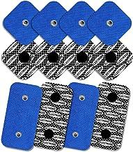 12 elektroden met zilveren patroon voor Compex (8 elektroden 50x50mm en 4 elektroden 50x100mm met 2 SNAP-aansluitingen)