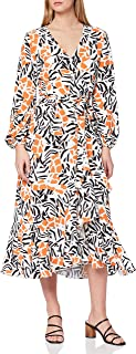 French Connection womens AFRA VERONA DRAPE LS VNCK DRSS Casual Dress
