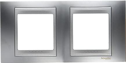 Schneider electric SC5MGU66004038F - Unicatop (2 veces, aluminio, cromo satinado apariencia marco