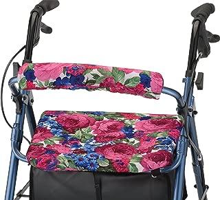 "NOVA Rollator Walker Seat & Back Cover, Removable and Washable, ""English Garden"" Design"