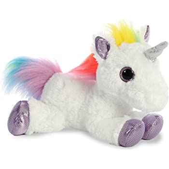 Aurora World Rainbow Unicorn Flopsie, 12 inches