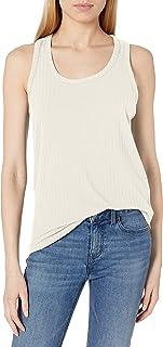 Daily Ritual Camiseta de Tirantes de rayón y Elastano, canalé Ancho Camisa para Mujer