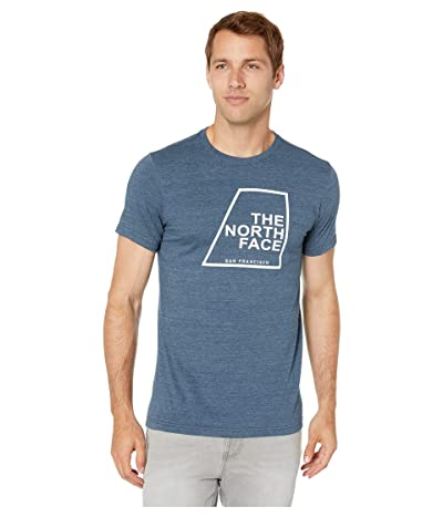 The North Face Short Sleeve Our DNA T-Shirt (Blue Wing/Teal Heather) Men