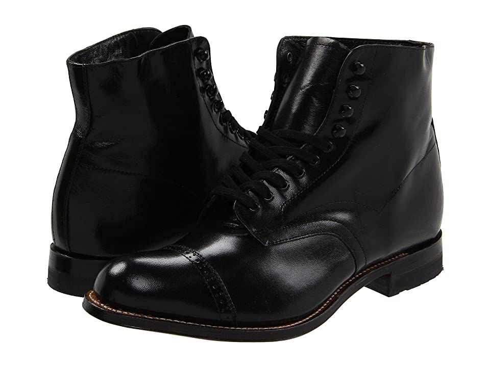 Edwardian Men's Fashion & Clothing Stacy Adams Madison Boot Black Mens Shoes $135.00 AT vintagedancer.com