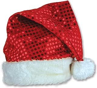 Sequin-Sheen Santa Hat Party Accessory