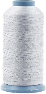 Mandala Crafts Bonded Nylon Thread for Sewing Leather, Upholstery, Jeans and Weaving Hair; Heavy-Duty; 1500 Yards Size 69 T70 (Silver)