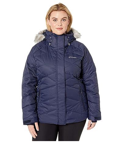 Columbia Plus Size Lay D Downtm II Jacket (Dark Nocturnal Dobby) Women