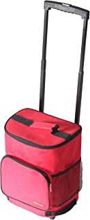 dbest products Ultra Compact Cooler Smart Cart, Red Insulated Collapsible Rolling Tailgate BBQ Beach Summer