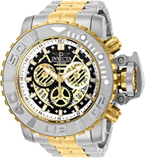 ساعة انفيكتا للرجال 58 ملم سي هنتر الجيل الثاني كوارتز سويسرية كرونوغراف سوار ستانلس ستيل