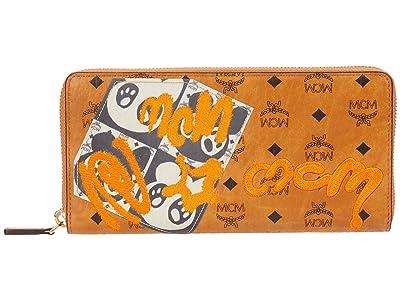 MCM Berlin Bear Zipped Wallet Large (Cognac) Bags