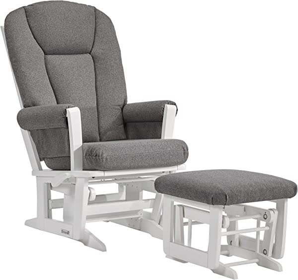 Dutailier Modern 0388 Glider Multiposition Lock Recline With Ottoman Included