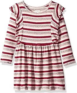 Girls' Big Long Sleeve Casual Knit Dress