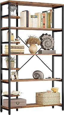 IRONCK Industrial Bookcases and Bookshelves Corner Shelf 8 Tiers Rustic Storage Rack Plant Stand Corner Ladder Shelf for Livi
