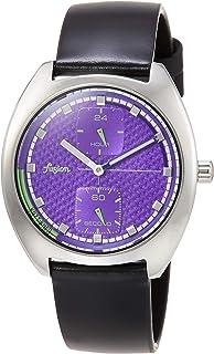 [セイコーウォッチ] 腕時計 アルバ Fusion 90年代 レトロ 未来感カラーテイスト 紫文字盤 カーブハードレックス 日常生活用強化防水(10気圧) AFSK404 ブラック