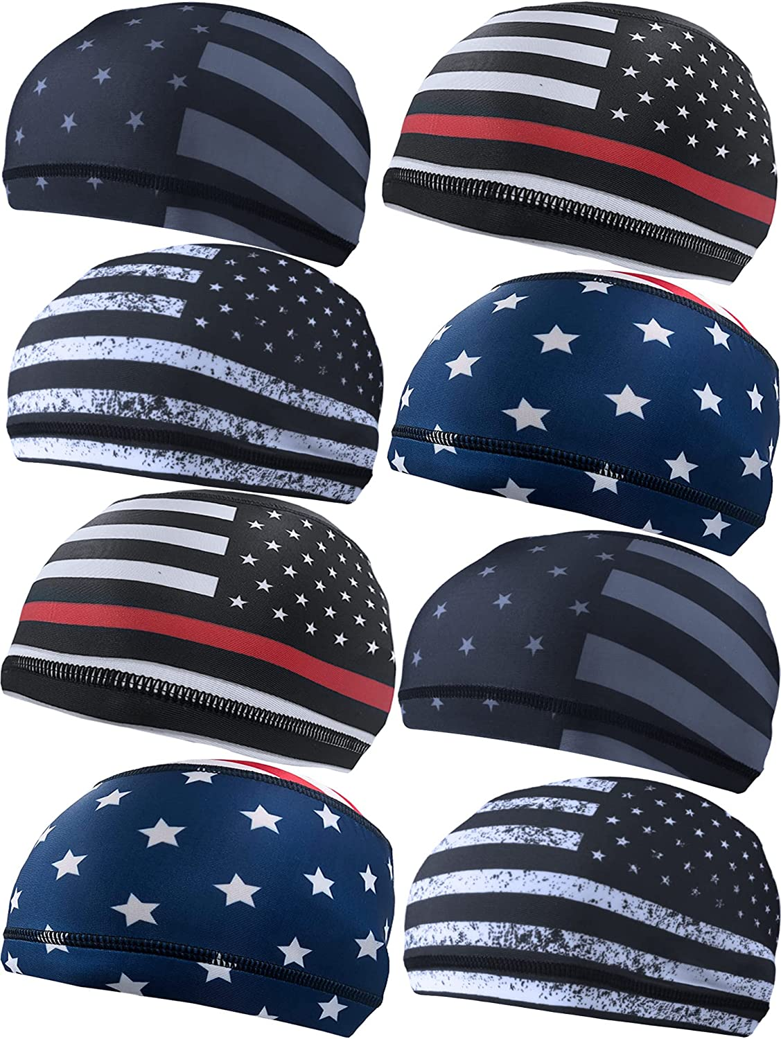 Geyoga 55% OFF 8 Pieces Cooling Year-end annual account Skull Cap Be Running Liner Wicking Sweat