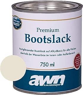 AWN 1K Bootslack Eine Komponente Lack für Boot Rumpf UV Schutz Ergiebigkeit ca. 12 m²/l