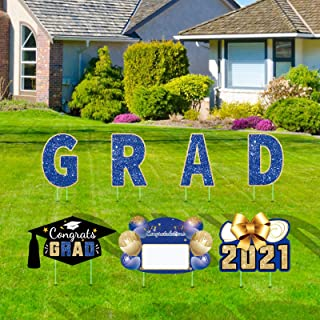 Graduation Yard Sign 2021 with Stakes, Graduation Signs for Yard Decorations, Graduation Lawn Sign Personalized Outdoor Gr...