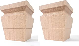 Highland Manor Wood Products Set of 2 Catalina Square Tapered Foot - 4