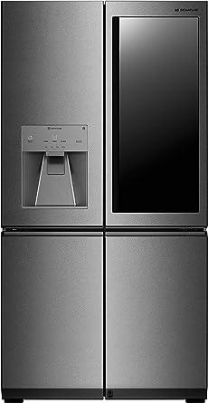 Lg 950 Liters Signature 4 Door Refrigerator, Textured Steel - GR-X33FGNGL