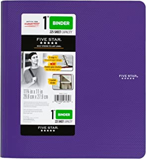 Five Star 1 Inch 3 Ring Binder, Plastic, Purple (38906)