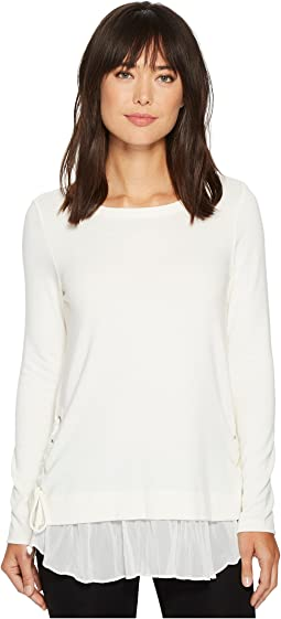 Karen Kane - Lace-Up Sweater