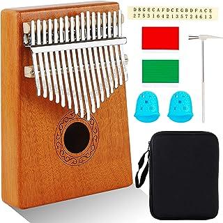 AerWo Kalimba Thumb Piano 17 keys, Portable Mbira Finger Pia