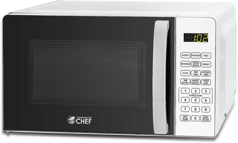Commercial Chef 0.7 Ranking TOP3 cu. Max 82% OFF ft. Countertop Oven Microwave Watt 700 -