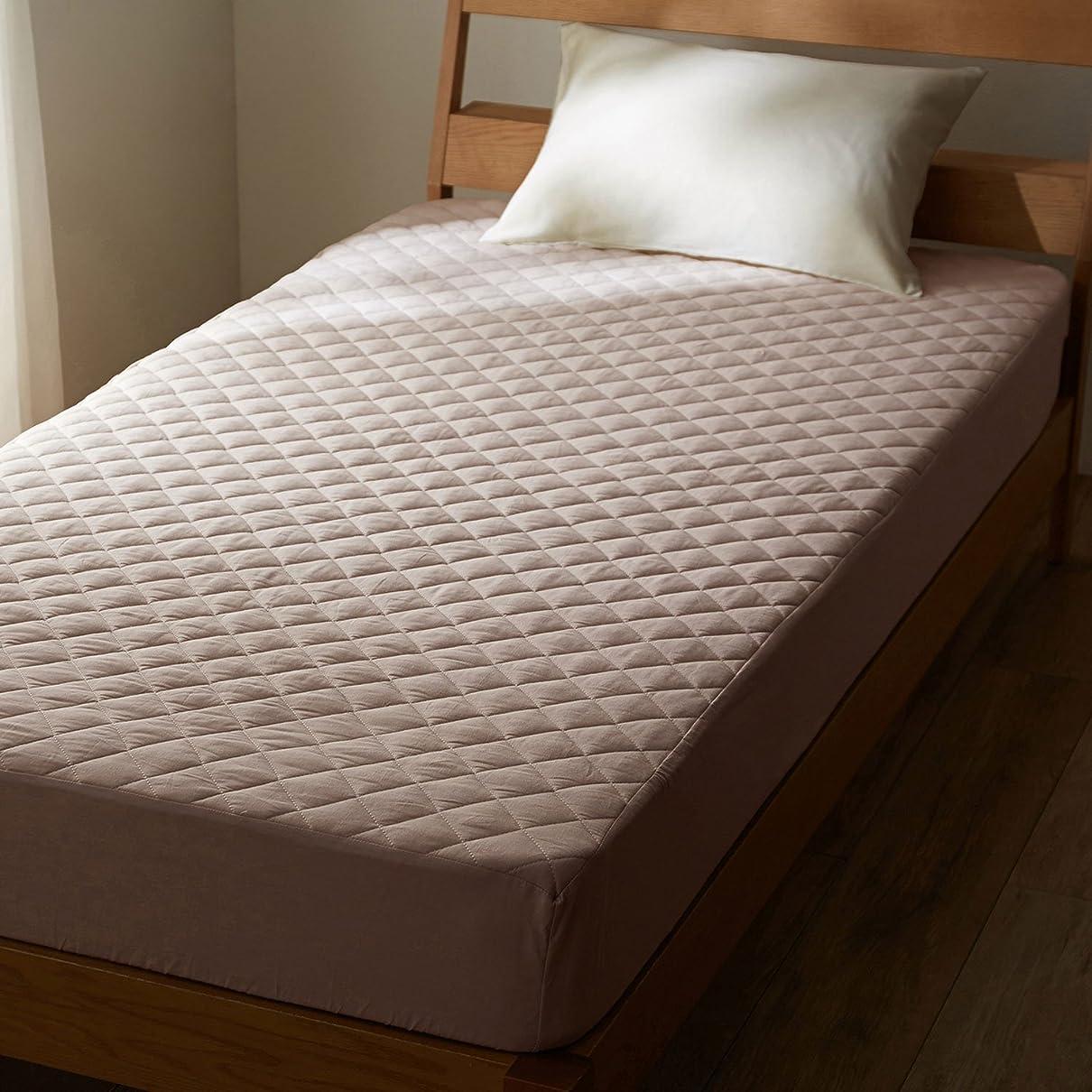 うそつき解釈的成り立つ[ベルメゾン] 先染め綿100%のボックスシーツ型敷きパッド グレー サイズ:キング
