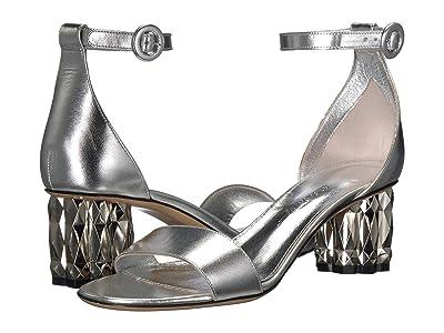 Salvatore Ferragamo Azalea 55 (Silver/Argento Metallic Leather) Women