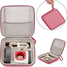 Esimen Hard Travel Case for Cricut Easy Press Mini Heat Press Machine Charging Base Accessories Carrying Bag (Pink)