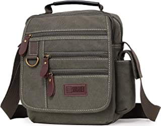 کیف شانه Sunsomen Canvas Small Messenger Crossbody Bag Work Vintage چند منظوره