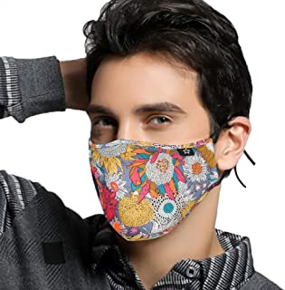 SPRING SEAON Washable Reusable Cotton Mouth Half Face Mouth for Men Women Dustproof with Adjustable Ear Loops