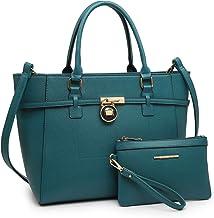 Women's Handbag Large Top Belted Padlock Shoulder Bag Tote Satchel Purse Hobo Bag for Work