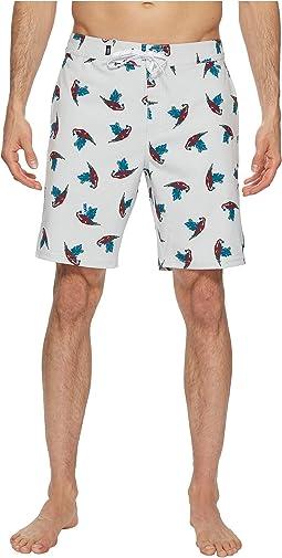 White Parrot Print