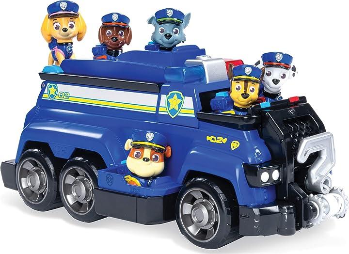 Veicolo della polizia di chase con marshall rubble skye zuma rocky 6 cuccioli inclusi dai 3 anni paw patrol 6052956