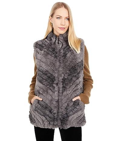 Love Token Sandra Faux Fur Vest (Charcoal Combo) Women