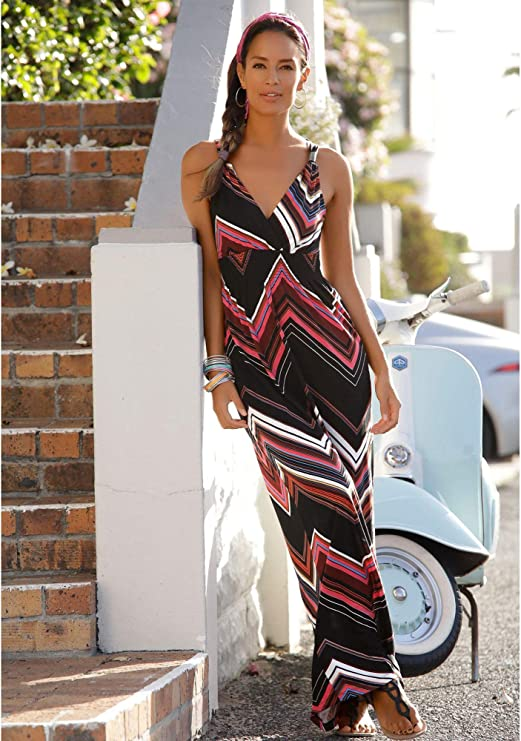 Lascana Strandkleid Grosse 34 Farbe Gestreift Amazon De Bekleidung