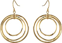 LAUREN Ralph Lauren - Small Round Bevel Ring Gypsy Hoop Earrings