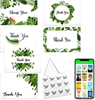 "Thank You Cards Bulk Envelopes – (Pack Of 48) Thank You Cards With Envelopes Notes & Stickers For Baby Shower, Wedding, Graduation, Funeral,Bereavement,Sympathy, Religious in Six Designs 4"" x 6"""