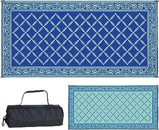 Reversible Mats 119183 Outdoor Patio 9-Feet x 18-Feet, Blue/Light-Green RV Camping Mat