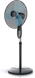 Brandson - 40cm Ventilateur sur Pied avec Télécommande - Fonction Oscillation 80° - Trois Vitesses - Hauteur Ajustable - p...