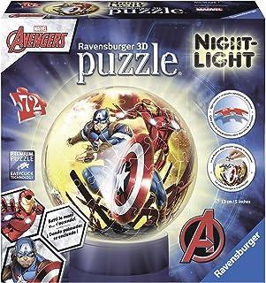 Avengers: Age of Ultron - Puzzle 3D + lámpara (Ravensburger 11798) , Modelos/colores Surtidos, 1 Unidad