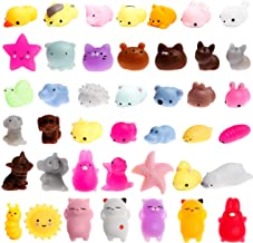 WATINC 30 Pcs Mochi Squishies Toy, Squeeze Cat Squishies for Mochi Party Favors, Birthday Gifts for Boys & Girls, Mini Cute Animal Squishies Toys, Kawaii Stress Relief Toys, Goodie Bags Egg Fillers