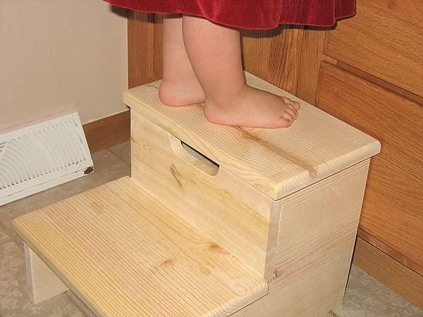 美国制造未完成的儿童脚凳