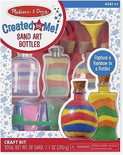 Melissa & Doug 4232 Sand Art Bottles Craft Kit: 3 Bottles, 6 Bags of Colored Sand, Design Tool