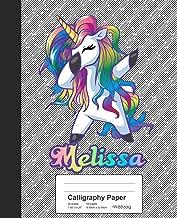 Calligraphy Paper: MELISSA Unicorn Rainbow Notebook (Weezag Calligraphy Paper Notebook)