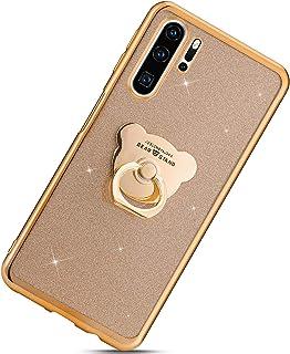 Urhause Kompatibel med Huawei P30 Pro, Ultra Slim Soft Bling Glitzer skyddsfodral Skydd TPU silikon Backcover mobilskal me...