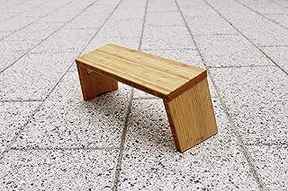 STOOLYOGA Portable Meditation Bench, Finished Bamboo, Folding Legs, Low Seat, Kneeling Alternative to Meditation Cushion f...