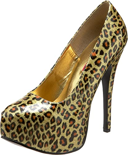 Bordello TEEZE-37 oro Cheetah Pat UK 5 (EU 38)