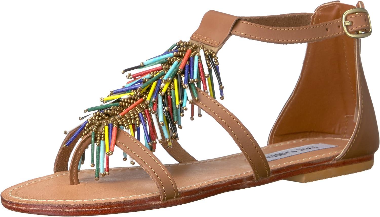 Steve Madden Womens Beadiee Flat Sandal